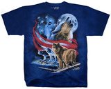 American Wolf Moon T-shirts