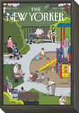 The New Yorker Cover - May 7, 2012 Framed Print Mount by Chris Ware