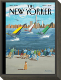 The New Yorker Cover - May 9, 2016 Framed Print Mount by Bruce McCall
