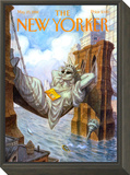 The New Yorker Cover - May 25, 1998 Framed Print Mount by Peter de Sève