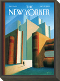 In the World of Books - The New Yorker Cover, October 19, 2009 Framed Print Mount by Eric Drooker