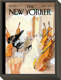 Different Scales - The New Yorker Cover, November 14, 2011 Framed Print Mount by Jean-Jacques Sempé