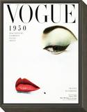Vogue Cover - January 1950 - Doe Eye Framed Print Mount by Erwin Blumenfeld