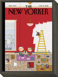 Warmth - The New Yorker Cover, March 19, 2012 Framed Print Mount by Ivan Brunetti
