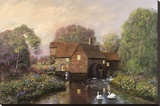 The Old Watermill Stretched Canvas Print by Alexander Sheridan