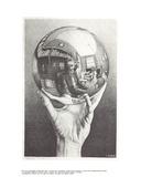 Main à la sphère Reproduction pour collectionneur par M.C. Escher