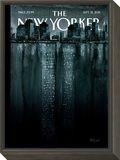 Reflections - The New Yorker Cover, September 12, 2011 Framed Print Mount by Ana Juan