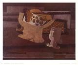Still Life with Fruit Dish Stampe da collezione di Georges Braque