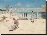 A Holiday at Mentone Stretched Canvas Print by Charles Conder
