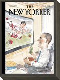 The Big Game - The New Yorker Cover, February 6, 2012 Framed Print Mount by Barry Blitt