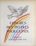 Congres des Peuples Pour la Paix Impressão colecionável por Pablo Picasso