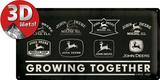 John Deere Growing Blikkskilt