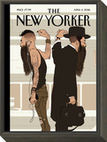The New Yorker Cover - April 11, 2016 Framed Print Mount by Tomer Hanuka