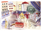 The Three Masks Collectable Print by Raoul Dufy