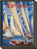 The New Yorker Cover - July 9, 1949 Framed Print Mount by Garrett Price