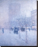Late Afternoon, New York: Winter Stretched Canvas Print by Frederick Childe Hassam