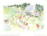 The Paddock at Longchamp Prints by Raoul Dufy
