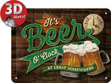 Beer O' Clock Glasses Blikkskilt