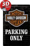 Harley Davidson - Parking Only Blikkskilt