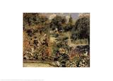 Garden at Fontenay Print by Pierre-Auguste Renoir