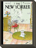 Winter Blues - The New Yorker Cover, January 30, 2012 Framed Print Mount by George Booth