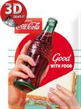 Coca-Cola Good With Food Plaque en métal