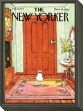 The New Yorker Cover - February 4, 1974 Framed Print Mount by George Booth