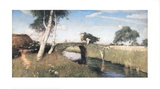 Sommer am Moorkanal Prints by Otto Modersohn