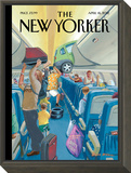 The New Yorker Cover - April 16, 2012 Framed Print Mount by Bruce McCall