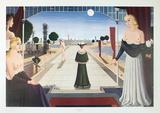 La Grande Allee Impressão colecionável por Paul Delvaux