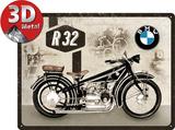 BMW - Motorcycle R32 Plaque en métal