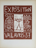 Exposition Vallauris Impressões colecionáveis por Pablo Picasso