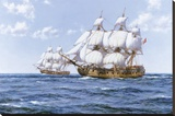 'Duke' And 'Duchess' Stretched Canvas Print by Montague Dawson
