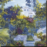 Maison sur la Cote D'azur Stretched Canvas Print by Tania Forgione