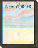 The New Yorker Cover - August 11, 1997 Framed Print Mount by Jean-Jacques Sempé