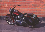Harley Davidson Duo-Glick 1200c 1958 Prints by Forlag Hakan Eriksson