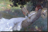 A Love Story, 1903 Stretched Canvas Print by Emanuel Phillips Fox