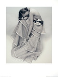 Tiered Evening Dress Collectable Print by Norman Parkinson