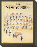 The New Yorker Cover - March 12, 1984 Framed Print Mount by Jean-Jacques Sempé