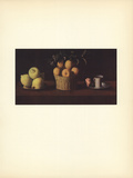 Citrons, Oranges et Rose Collectable Print by Francisco Zurbaran
