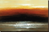 Sunset Blaze Stretched Canvas Print by Mark Lawrence