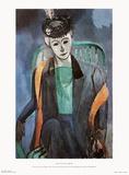Portrait of Mademoiselle Matisse Samletrykk av Henri Matisse