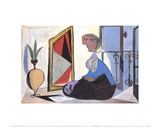 Woman at the Mirror Samlertryk af Pablo Picasso