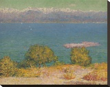 Vue d' Antibes Stretched Canvas Print by John Peter Russell
