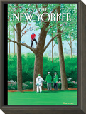 My Best Shot - The New Yorker Cover, April 11, 2011 Framed Print Mount by Bruce McCall