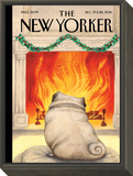 The New Yorker Cover - December 19, 2016 Framed Print Mount by Ana Juan