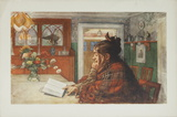 Woman Reading Print by Carl Larsson