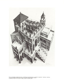 Ascending and Descending Collectable Print by M.C. Escher