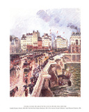 The Point-Neuf-Rainy Afternoon Affiches par Camille Pissarro
