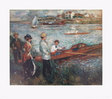 Oarsmen at Chatou Posters by Pierre-Auguste Renoir